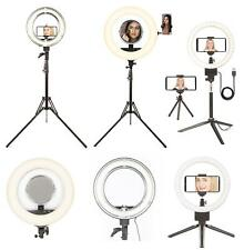 Ring Light LED Fluorescent Dimmable Makeup Video Tripod Selfie Camera Live UK