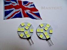 2 x G4 9SMD 5050 12Volt DC 1.8Watt White LED Disc Bulbs  - Genuine UK Stock DC