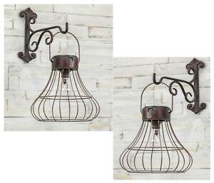 Sienna Solar Lantern Solar Powered Lamp Light Hanging Lantern Burnished Bronze