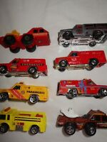 LOT 8 - 1974 Vintage Mattel Hot Wheels Emergency Unit Fire Rescue Trucks Cars