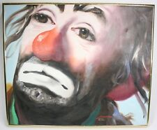 "RUSTY RUST Signed Original Oil Painting 24""X20""- CLOWN Emmett Kelly ©1985 46/250"
