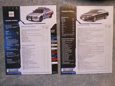 2005 Chevrolet Impala Police Color Facts Sheet NEW