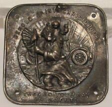 St. Christopher - Square - Car Protector - Medal - Automobile Badge - Vintage