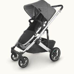 UPPAbaby CRUZ V2 Stroller - UJORDAN (charcoal/silver/black leather)