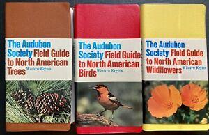 The Audubon Society Western Region Lot Birds Birth American Trees & Wildflowers