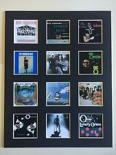 "ROY ORBISON LP DISCOGRAPHY PICTURE MOUNTED 14"" By 11"" FREE POSTAGE"