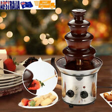 Stainless Steel Chocolate Fondue Fountain Machine Waterfall Melting 4 Tiers OZ