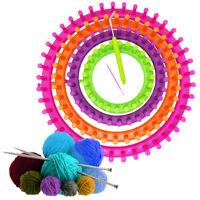 Knitter Loom Crocheting Knitting Ring Set Pompom Maker Craft Kit 14/19/24/29cm