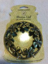 New 2011 Yankee Candle Illuma-Lid P6 Shamrock 3 Leaf Clovers Pewter/Bronze