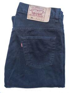 "Men's LEVIS STRAUSS & CO Premium 501 Black STRAIGHT LEG Jeans *FITS* W34"" L33"""