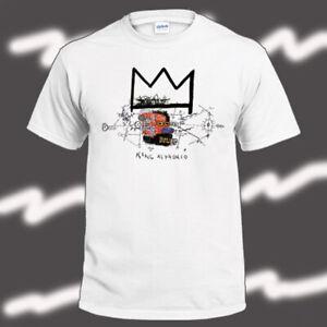 Jean Michel Basquiat King Alphonso Art Men's White T-Shirt Size S-3XL