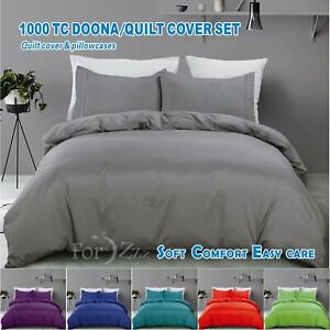 ForZzz Soft Quilt/Duvet/Doona Cover Set Single/D/Queen/King/Super King Size Bed