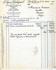 Alte Rechnung französisch 1926 Lepers-Delespaul Lys-lez-Lannoy Frankreich France