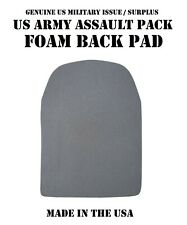 US MILITARY MOLLE FIELD BACKPACK ASSAULT PATROL PACK BLACK FOAM BACK PAD PADDING