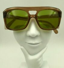 Vintage Bouton Z87 Ulclass B1/7 Brown Horn-Rimmed Safety Sunglasses Frames USA