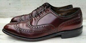 Allen Edmonds Ostendo McAllister Men's 11C Leather Shoes Burgundy Wingtip