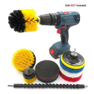 Electric Drill Cleaning Brush Kits 11pcs Set for Polishing Waxing Tile Gap Clean