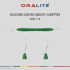 Silicona Recubierta Gracey Cureta Mini 7/8 Dental instrumento periodontal Escalador