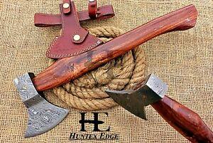 HUNTEX Custom Hand Forged Damascus Steel 455 mm Long Walnut Wood Splitter Axe