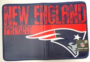 """New England Patriots Foam Mat Rug 20"""" x 30"""" """"Worn-out"""" Style"""