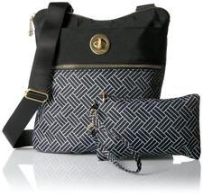 Baggallini ~ Hanover Cross Body Bag~Black - Basketweave Pattern (Retired) ~ NWT