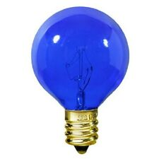 BULBRITE 303010 10W 130V G12 GLOBE E12 BASE TRANSPARENT BLUE BULB (PACK OF 6)