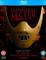 HANNIBAL LECTER TRILOGY BLU RAY 3 MOVIES BOX SET SILENCE LAMBS RED DRAGON LECTOR
