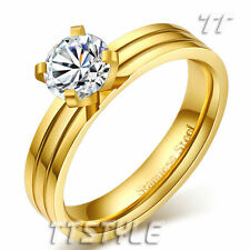 Cubic Zirconia 14k Engagement Rings