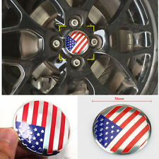 56mm American metal Car Truck Wheel Center Hub Cap Sticker Cover Emblem USA Flag