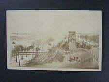 Glidden Iowa IA Railroad Depot Tracks Elevator Real Photo Postcard RPPC c1920's