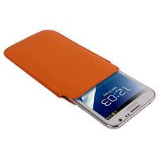 Etui mit Ausziehhilfe für Samsung N7100 Galaxy Note 2 in orange Tasche Case