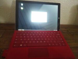 Microsoft Surface Pro 3 128 gb intel core i5-4300U Red keyboard