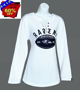 Nfl Womens Apparel * Baltimore Ravens Nfl Lace-Up Fleece Sweatshirt, nwt, LARGE