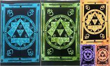 Triangle Om Chakra Beautiful Design Cotton Tapestry Poster Handmade Fabric Art