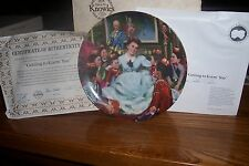 """The King & I Collectors Plate - 1985 - """"Getting to Know You"""""""
