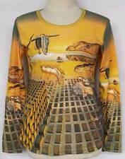 Dali Disintegration of the Persistence of Memory ART T-Shirt TOP Size M-L LS3030