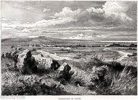 Campo Battaglia di Canne. Barletta. Grande Veduta Pittoresca + Passepartout.1877