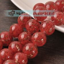 12/14/16/20mm Lampwork Glass Crystal Jewelry Finding Loose Spacer Round Beads
