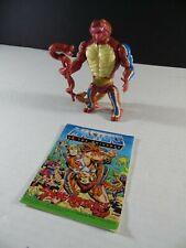 Vintage He Man MOTU Rattlor 100% 1986 Complete Mattel Figure with Comic
