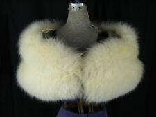 "Vintage Super Fluffy Cream 2 Pelts Fox Fur Wedding Luxury Wrap Stole- 45"" Long"