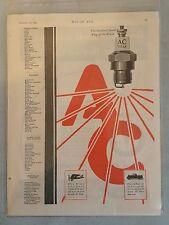 Vintage 1920 AC Titan Sparkplug - AC Delco- Color AD