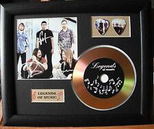 Foo Fighters Preprinted Autograph, Gold Disc & Plectrum Presentation