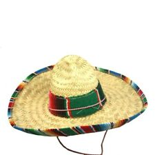 Child Size Woven Mexican Sombrero With Serape Trim