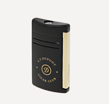 NEW ST Dupont Cigar Club MaxiJet Lighter - Black Lacquer & Gold Finishes 020212