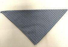 Blue/ white Checker Neckerchief Bandana Neck Scarf Head Scarf Triangle Workwear
