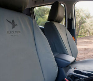 Black Duck Canvas Seat Covers Ford & Mazda Air Bag Front & Rear Set Black Duck