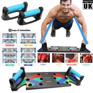 Complete Push Up Rack Board Fitness Workout Training Gym Exercise Pushup Stand