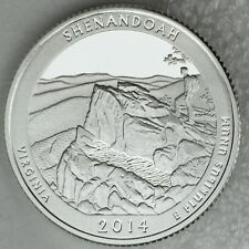 2014-S Silver Shenandoah National Park Deep Cameo Proof Quarter Encapsulated