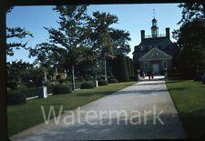 1941 red border kodachrome Photo slide Williamsburg VA view of Governor's Palace