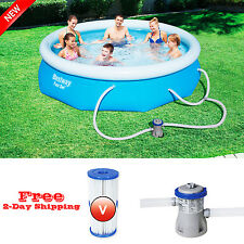"""Cheap and Quality 10' x 30"""" Above Ground Swimming Pool Set w/ Filter Pump NEW"""